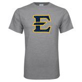 Grey T Shirt-E - Offical Logo Distressed