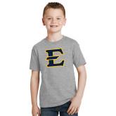 Youth Grey T-Shirt-E - Offical Logo