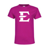 Youth Fuchsia T Shirt-E - Offical Logo