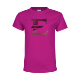 Youth Cyber Pink T Shirt-E - Offical Logo Foil