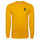 Gold Long Sleeve T Shirt-E - Offical Logo