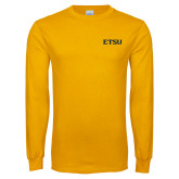 Gold Long Sleeve T Shirt-ETSU
