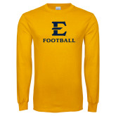 Gold Long Sleeve T Shirt-E Football
