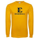 Gold Long Sleeve T Shirt-E Baseball