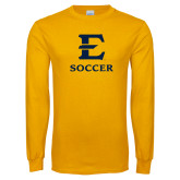 Gold Long Sleeve T Shirt-E Soccer