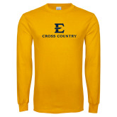 Gold Long Sleeve T Shirt-E Cross Country