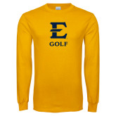 Gold Long Sleeve T Shirt-E Golf