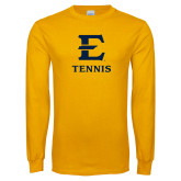 Gold Long Sleeve T Shirt-E Tennis