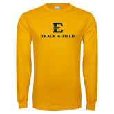 Gold Long Sleeve T Shirt-E Track and Field