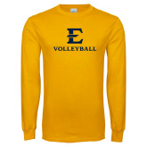 Gold Long Sleeve T Shirt-E Volleyball