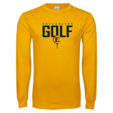 Gold Long Sleeve T Shirt-Golf Tee Design