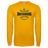 Gold Long Sleeve T Shirt-Softball Field