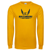 Gold Long Sleeve T Shirt-Cross Country Wings