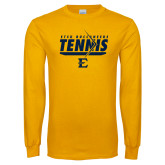 Gold Long Sleeve T Shirt-Tennis Arrow