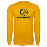 Gold Long Sleeve T Shirt-Tennis Ball