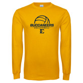 Gold Long Sleeve T Shirt-Volleyball on Top