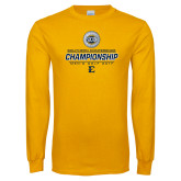 Gold Long Sleeve T Shirt-Southern Conference Championship - Mens Golf 2017