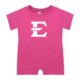 Bubble Gum Pink Infant Romper-E - Offical Logo