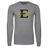 Grey Long Sleeve T Shirt-E - Offical Logo