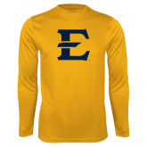 Performance Gold Longsleeve Shirt-E - Offical Logo