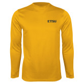 Syntrel Performance Gold Longsleeve Shirt-ETSU