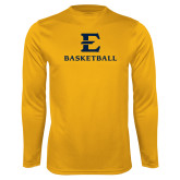 Performance Gold Longsleeve Shirt-E Basketball
