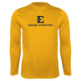 Performance Gold Longsleeve Shirt-E Cross Country