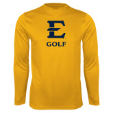Performance Gold Longsleeve Shirt-E Golf