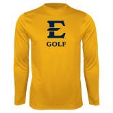Syntrel Performance Gold Longsleeve Shirt-E Golf