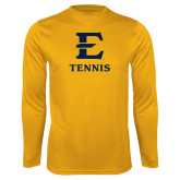 Performance Gold Longsleeve Shirt-E Tennis