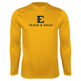 Syntrel Performance Gold Longsleeve Shirt-E Track and Field