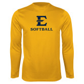 Performance Gold Longsleeve Shirt-E Softball