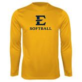 Syntrel Performance Gold Longsleeve Shirt-E Softball