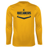Performance Gold Longsleeve Shirt-Baseball Plate Design