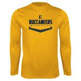 Syntrel Performance Gold Longsleeve Shirt-Baseball Plate Design