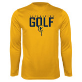 Performance Gold Longsleeve Shirt-Golf Tee Design