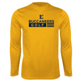 Performance Gold Longsleeve Shirt-Golf Flag Design