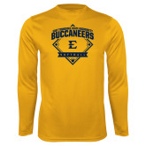 Performance Gold Longsleeve Shirt-Softball Field