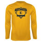 Syntrel Performance Gold Longsleeve Shirt-Softball Field