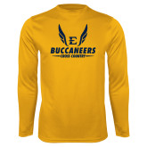Performance Gold Longsleeve Shirt-Cross Country Wings