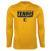 Performance Gold Longsleeve Shirt-Tennis Arrow
