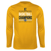 Syntrel Performance Gold Longsleeve Shirt-2017 Southern Conference Tournament Mens Basketball Champions Stacked