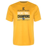 Performance Gold Tee-2017 Southern Conference Tournament Mens Basketball Champions Stacked