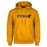 Gold Fleece Hoodie-ETSU w/ Buccaneer Head