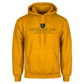 Gold Fleece Hoodie-East Tennessee University - Institutional Mark