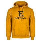Gold Fleece Hoodie-E Softball