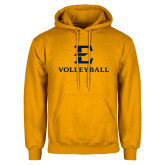 Gold Fleece Hoodie-E Volleyball