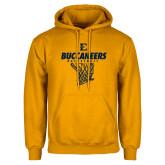 Gold Fleece Hoodie-Basketball Net Design
