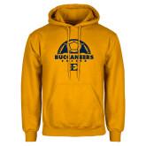 Gold Fleece Hoodie-Soccer Design