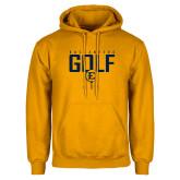 Gold Fleece Hoodie-Golf Tee Design
